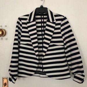 Amanda + Chelsea striped jersey blazer size 8